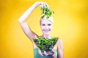 Свежая зелень для красоты